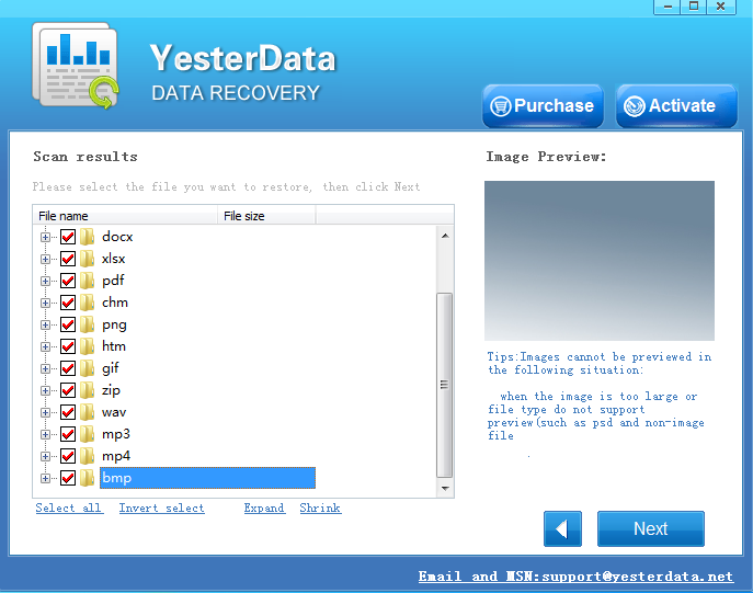 Preview and recover lost data from memory cards